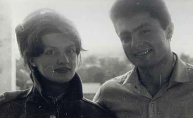 С женой Мариной в молодости