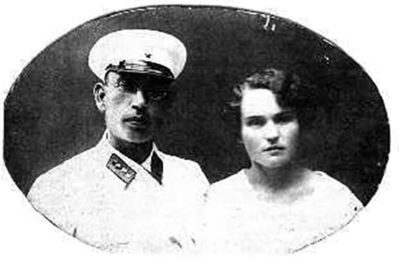 С женой Анной Михайловной