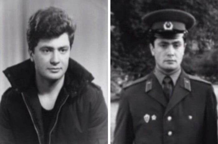 Петр Порошенко в молодости (справа в армии)