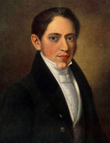 Николай Огарев в молодости
