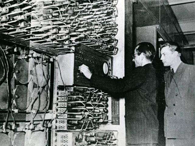 Сергей Лебедев во время работы с БЭСМ-1