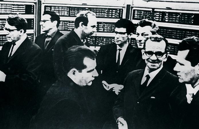 Во время работы над машиной БЭСМ-6 (1967)
