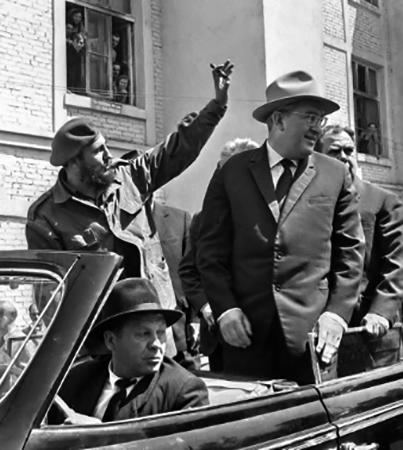 Фидель Кастро и Юрий Андропов (Волгоград, 1963)