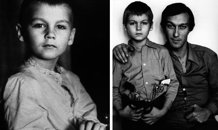 Филипп Янковский в детстве (справа с отцом)