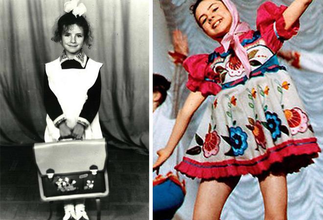 Анна Плетнева в детстве