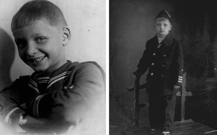Эдуард Хиль в детстве
