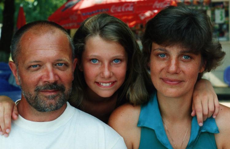 С женой Марианной и дочерью Ольгой
