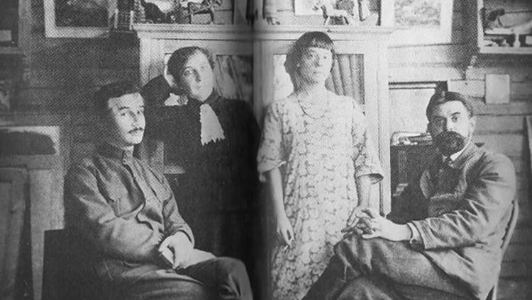 Саша Черный и Вадим Фалилеев с женами