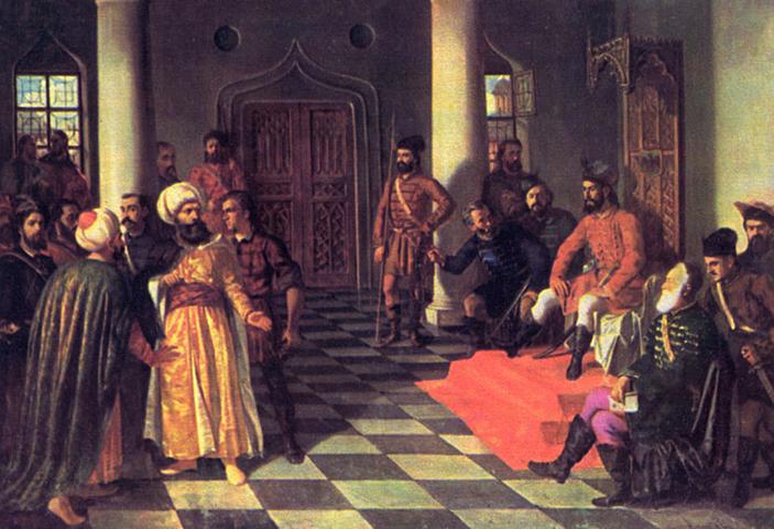 Влад Цепеш и турецкие послы (худ. Теодор Аман)