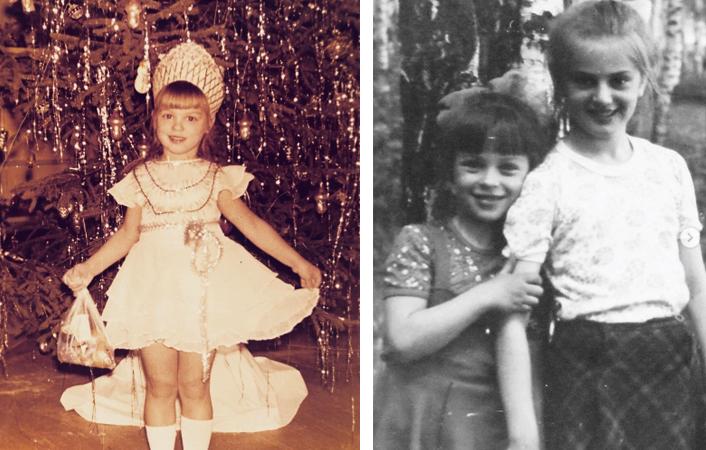 Ирина Муромцева в детстве (справа с сестрой)