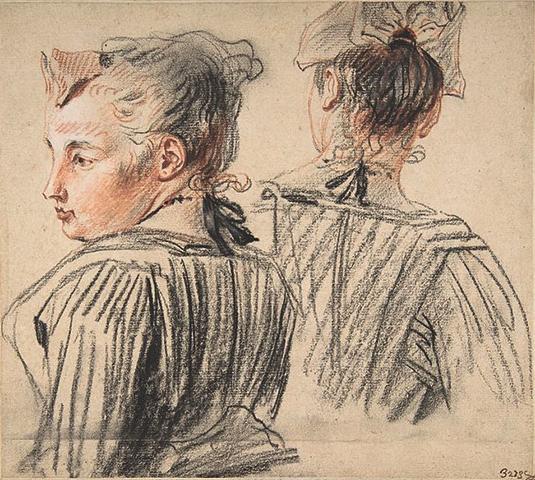 «Женщина в головном уборе» (1717-1718)