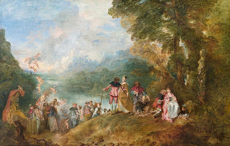 «Паломничество на остров Киферу» (1717)