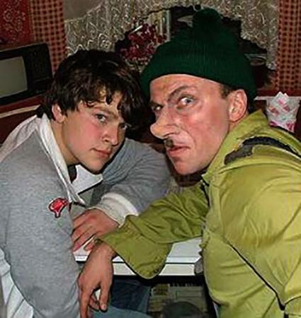 С отцом в юности