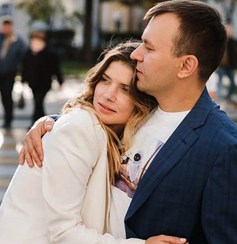 С мужем Владимиром