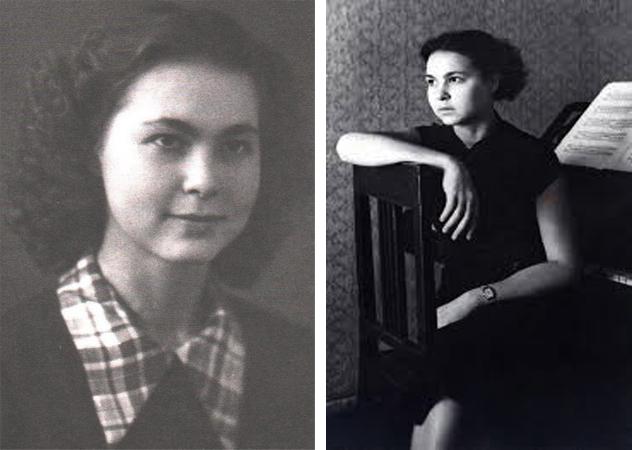 София Губайдулина в молодости