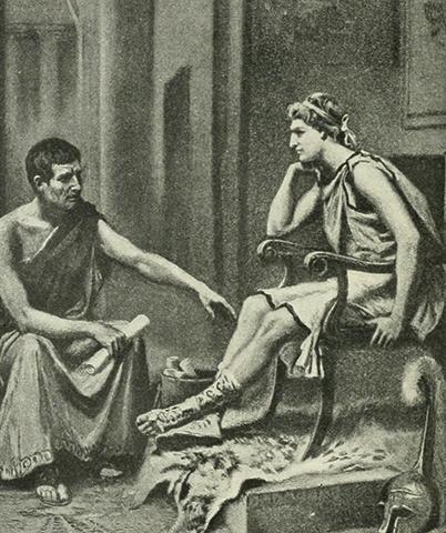 Аристотель наставляет Александра. Жан Леон Жером Феррис