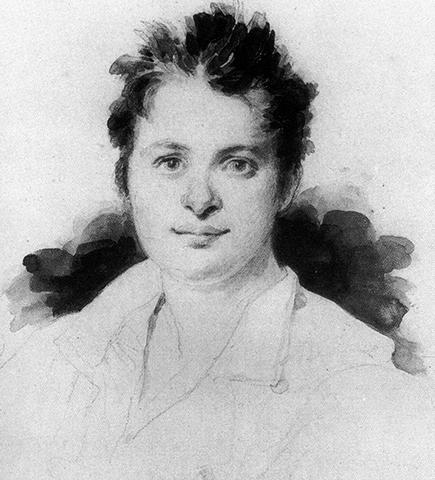 Рисунок Бальзака в середине 1820-х годов