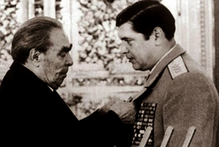 С Л.И. Брежневым