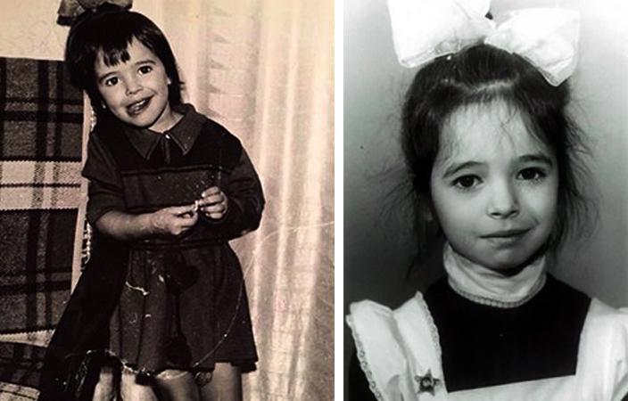 Диана Вишнёва в детстве