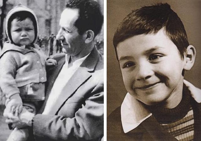 Михаил Турецкий в детстве (слева с папой)