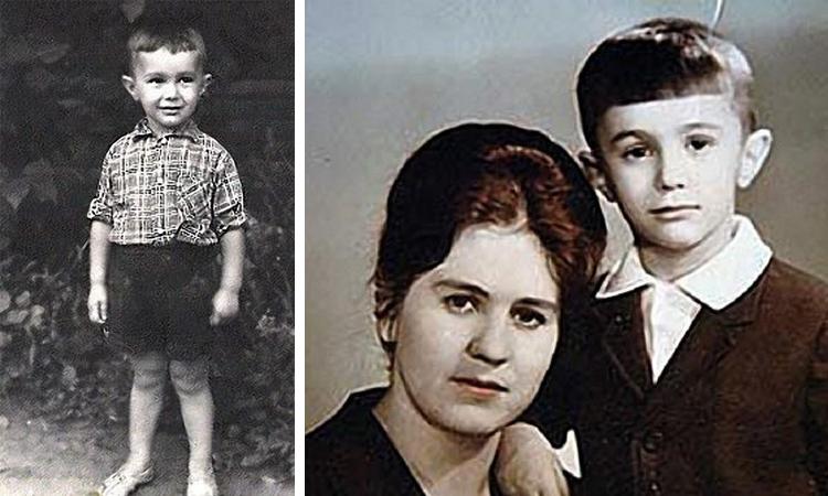 Вячеслав Бутусов в детстве (справа с мамой)