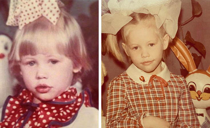Светлана Устинова в детстве