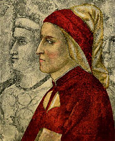 Данте Алигьери, приписываемый Джотто, в часовне дворца Барджелло во Флоренции