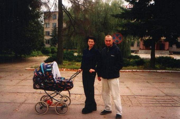 С Алексеем Вороновым и сыном