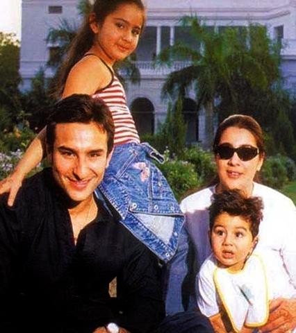 С первой женой Амритой и детьми
