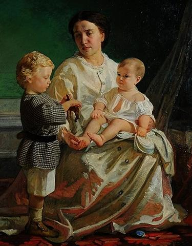 Портрет жены с детьми