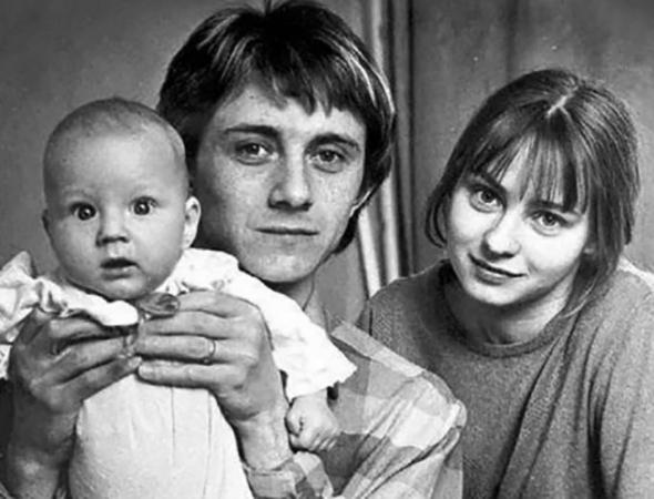 С первой женой Евгенией и сыном Степаном