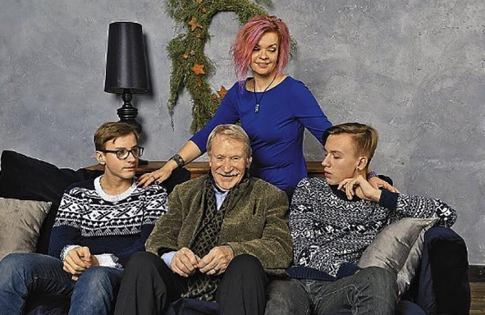 С Иваном Краско и сыновьями