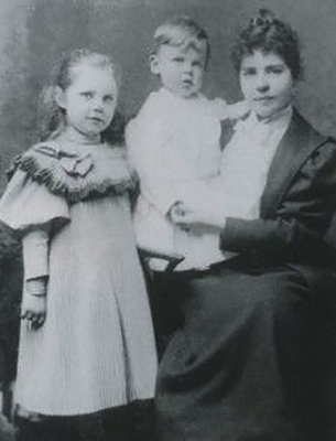 Первая жена Луиза с детьми