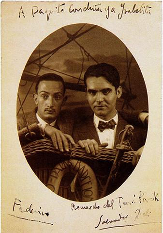 Дали с Федерико Гарсией Лоркой, Туро-Парк де ла Гинеуэта, Барселона, 1925 год