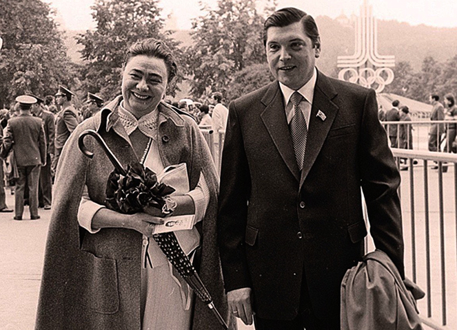 С Галиной Брежневой (1980)
