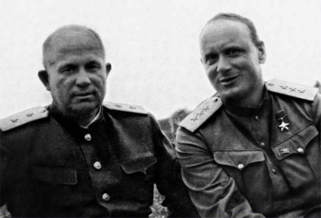 С Никитой Хрущевым (1946)