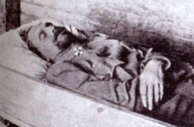 Владимир Каппель в гробу