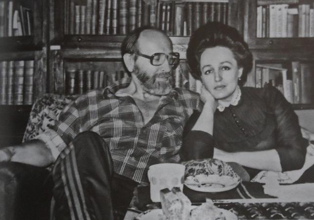С женой Ларисой