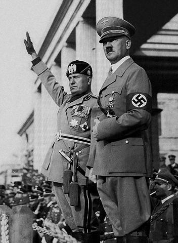 Муссолини и Гитлер (1936)
