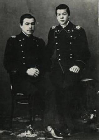 Леонид Говоров (слева) с братом Николаем (1916)