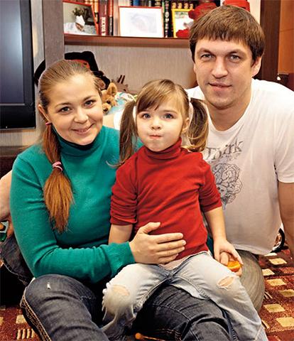 С Дмитрием Орловым и дочерью Татьяной