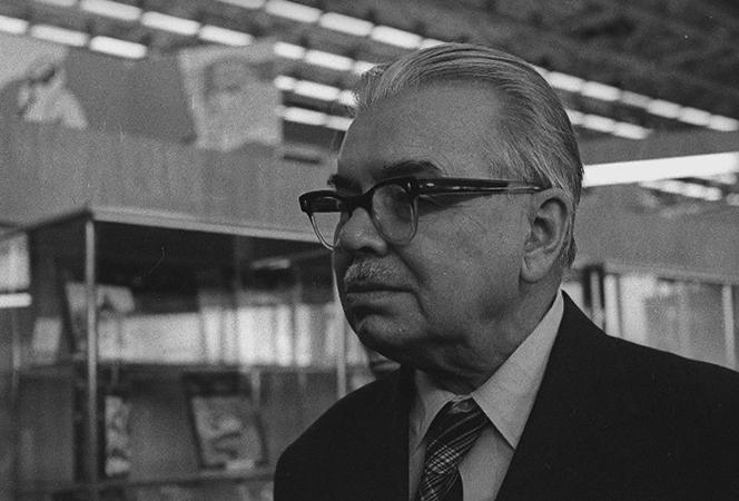 Леонид Леонов в старости