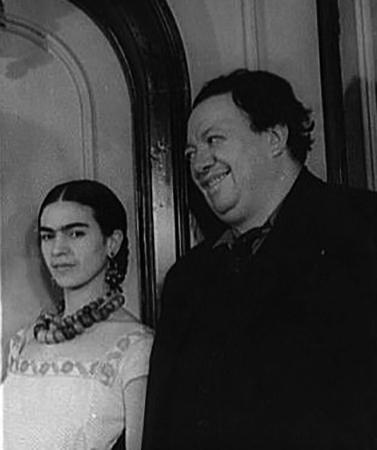 С мужем Диего Риверой (1932)