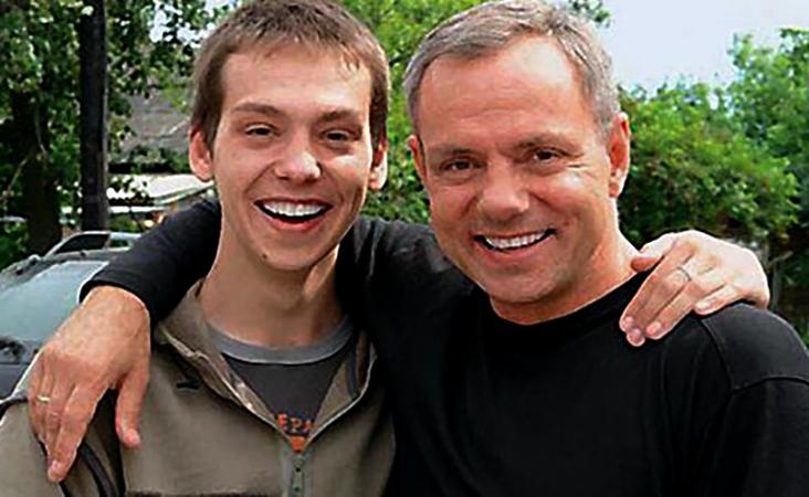 С сыном Семеном