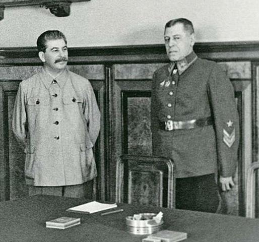 Шапошников и Сталин