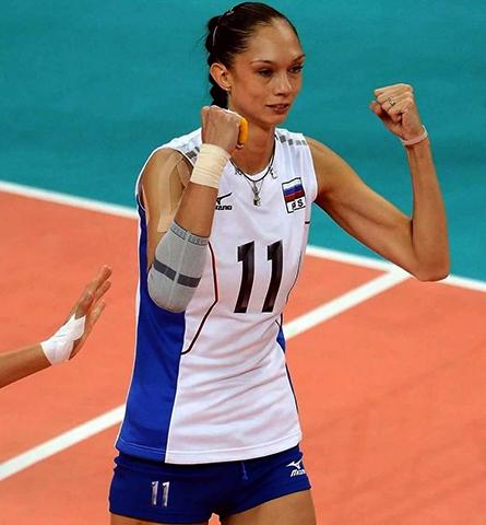 Екатерина Гамова на волейбольной площадке