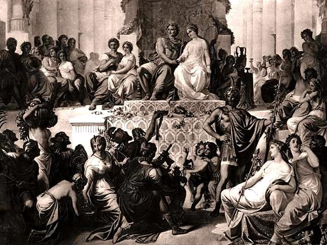Браки Статиры II с Александром III Македонским и ее сестрой Парисатидой в Сузах в 324 г. до н. э.