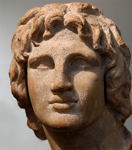 Бюст молодого Александра Великого из эллинистической эпохи, Британский музей