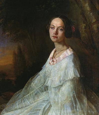 Юлия Жадовская. Художник Н. Лавров (1845)