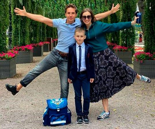 С Александром и сыном Никитой